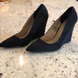 Express Black Suede , Wedge Shoe
